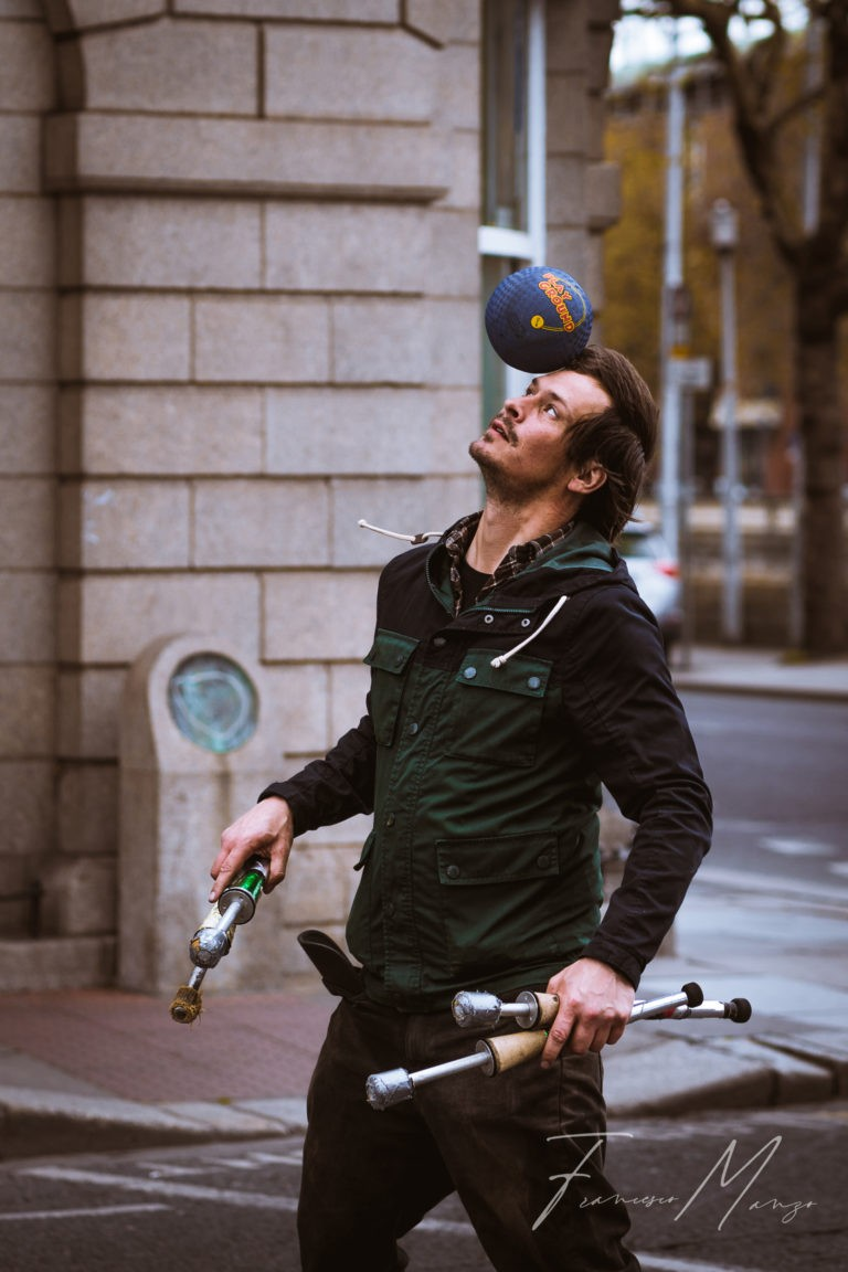 portrait street urban man