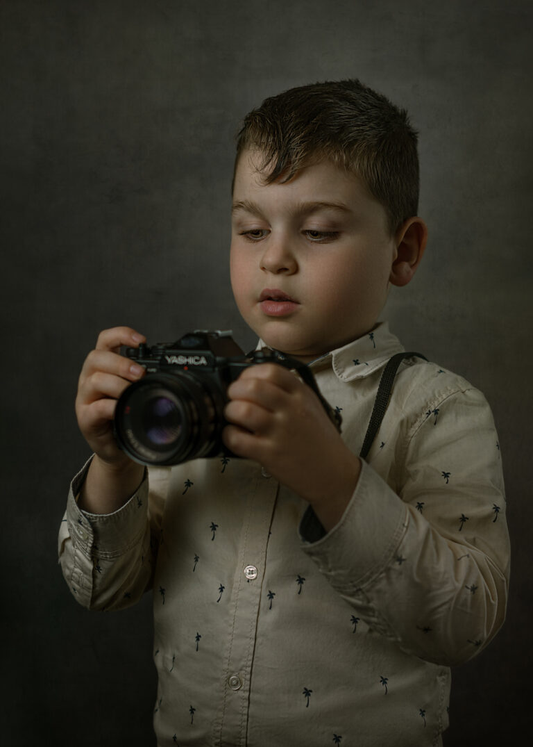 studio portrait child kid