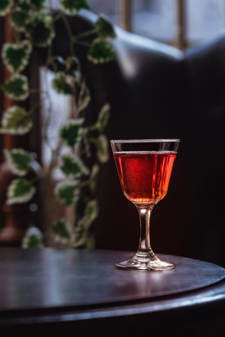 red cocktail martini whiskey