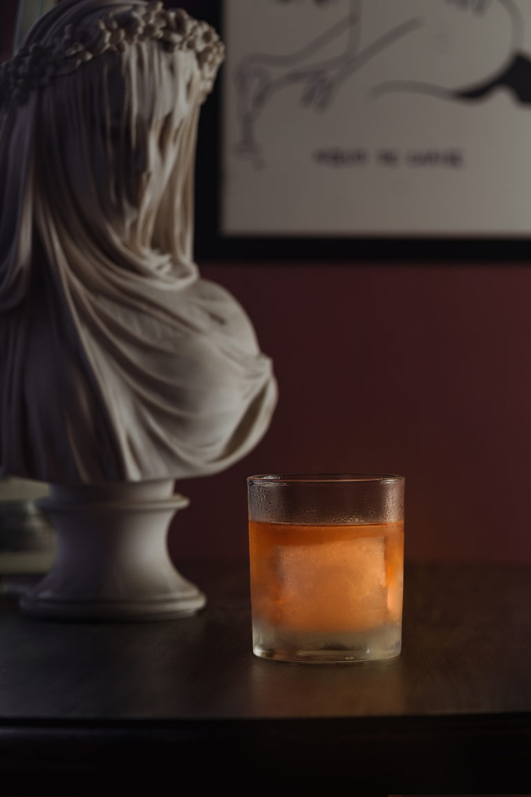 speakeasy ice block cocktail