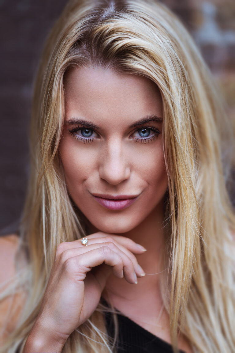 blonde model portrait