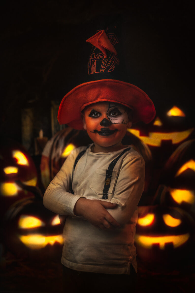 halloween boy kid portrait studio