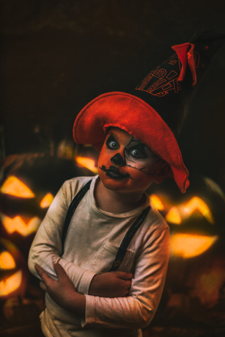 halloween studio portrait kid child