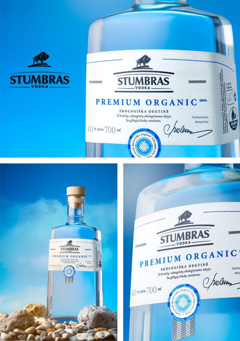 Stumbras vodka product shot